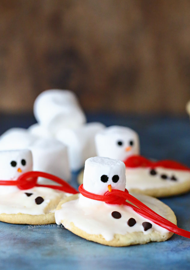 Ice Cream Cookies - Snowman