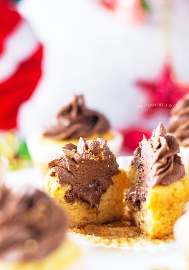cupcakes filled with nutella