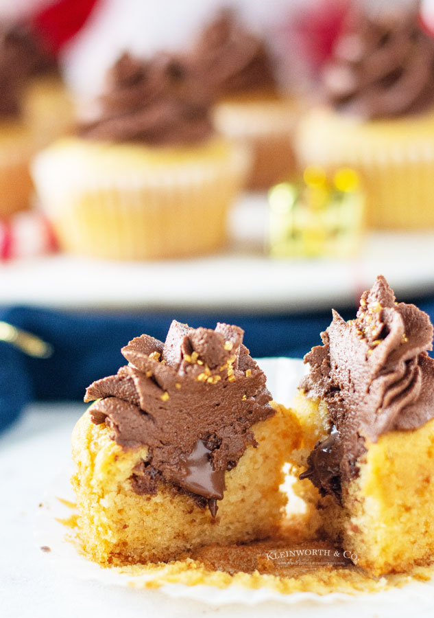 nutella inside cupcakes