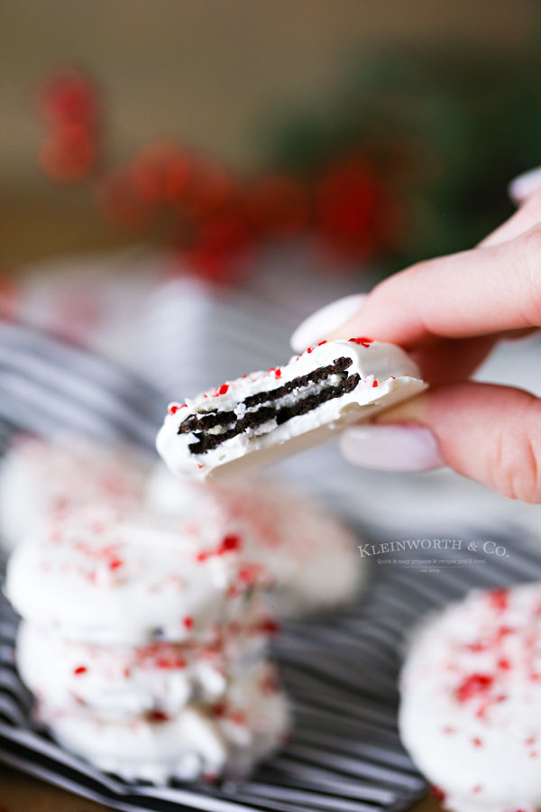 Peppermint Bark Cookies with Oreos