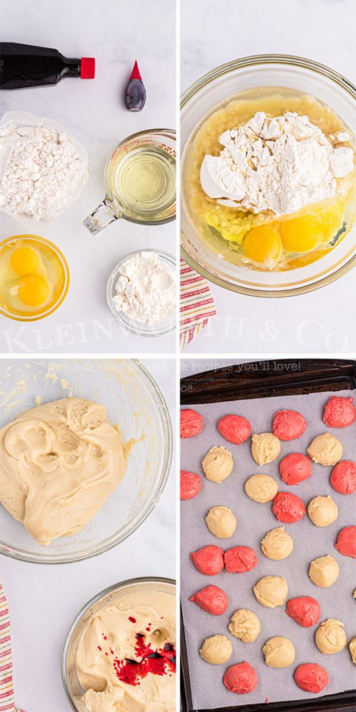 Step by step Peppermint Swirl Cookies