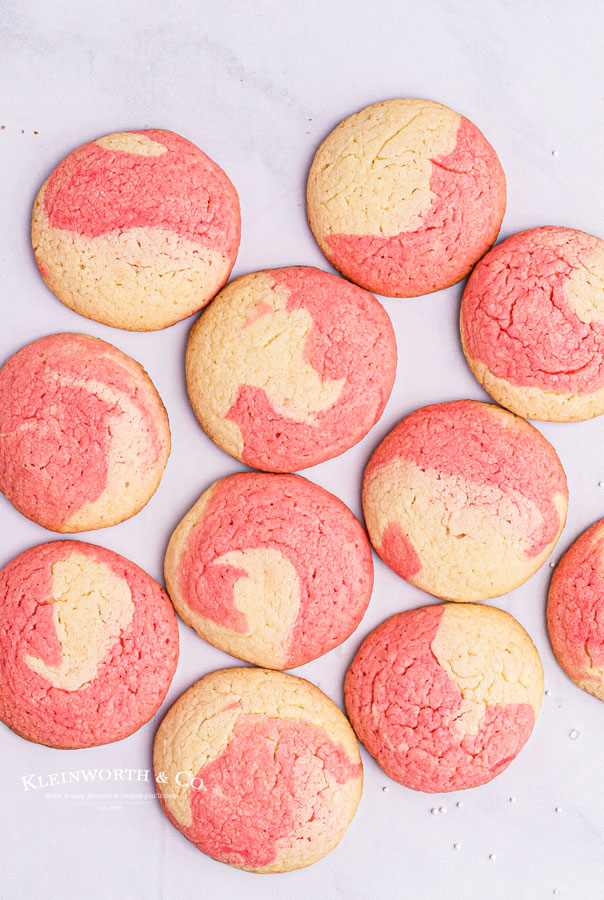 undecorated Peppermint Swirl Cookies