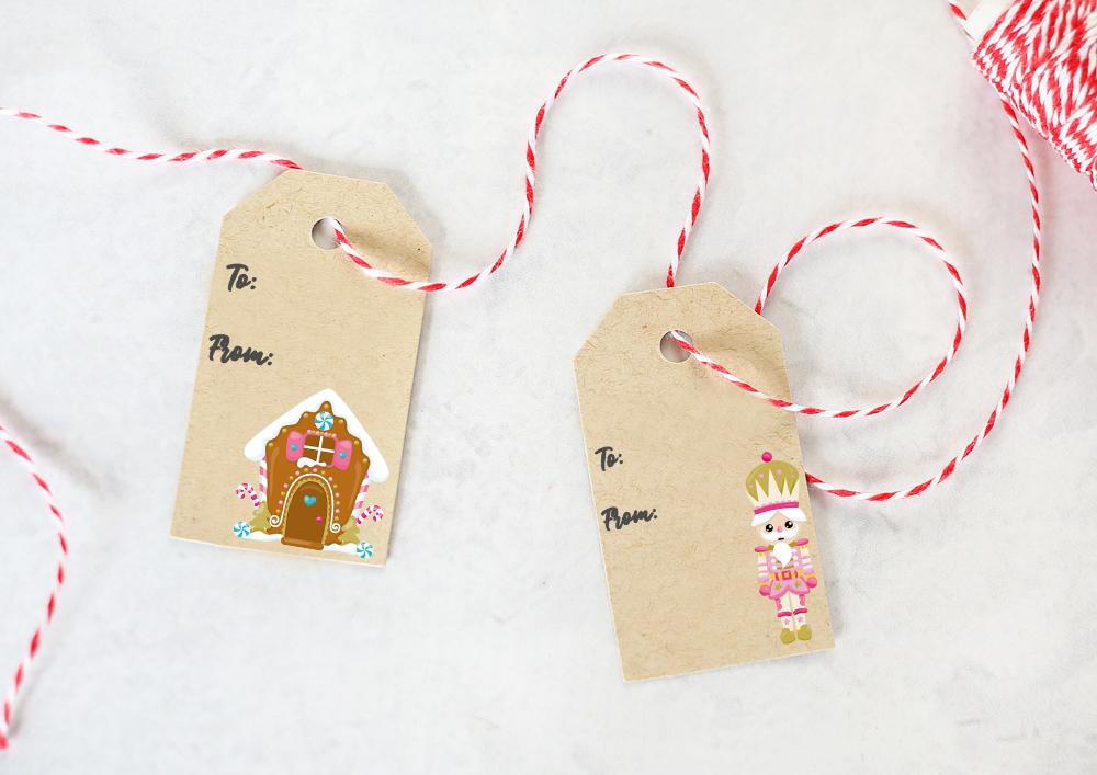 Pink theme - FREE Christmas Gift Tags Printables