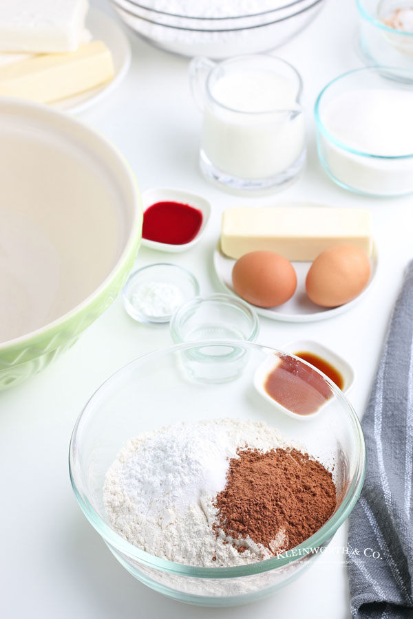 red velvet cupcake ingredients