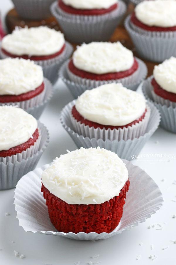Red Velvet Cupcakes with Sprinkles