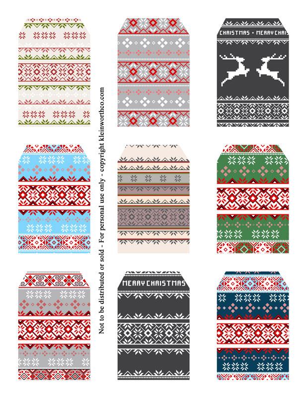 Scandinavian Sweater - gift tags