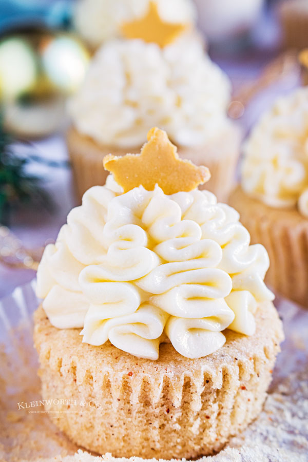 unwrapped eggnog cupcake