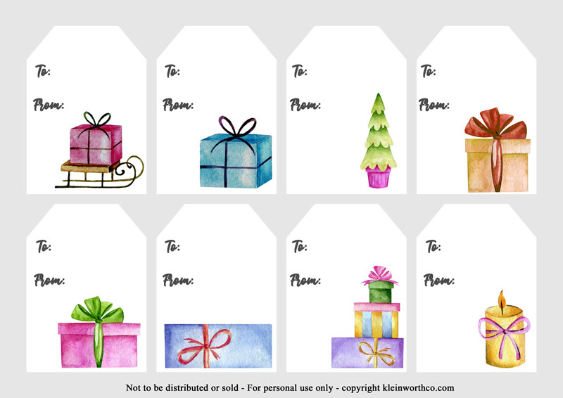 Watercolor Vintage Gift Tags