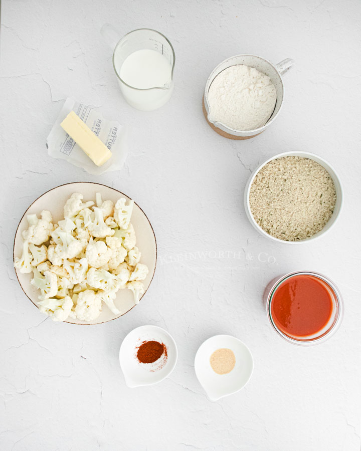 Ingredients Buffalo Cauliflower Bites