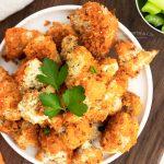 Vegetarian Buffalo Cauliflower Bites