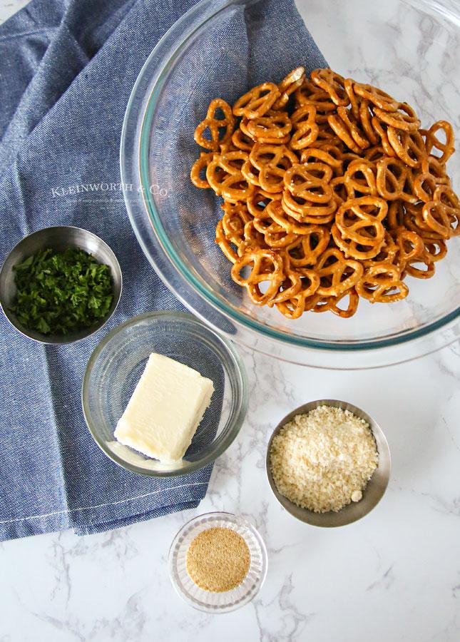 Garlic Parmesan Pretzel ingredients