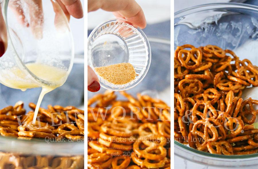 steps to make Garlic Parmesan Pretzels