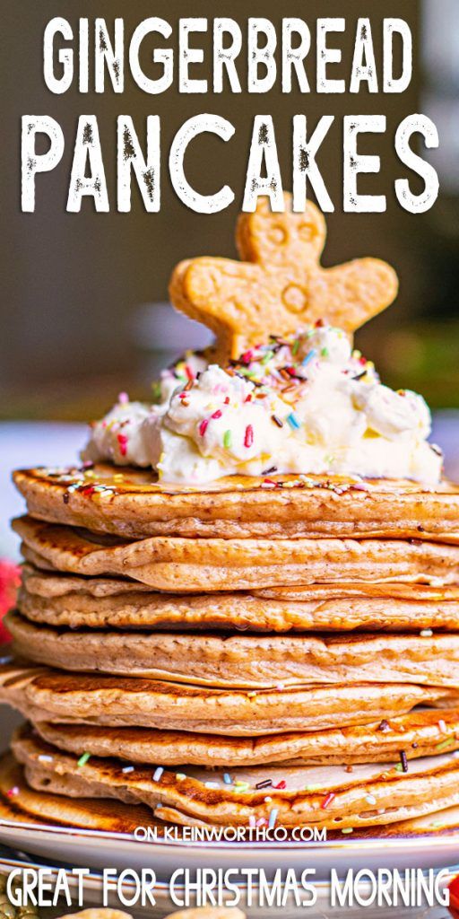 Homemade Gingerbread Pancakes