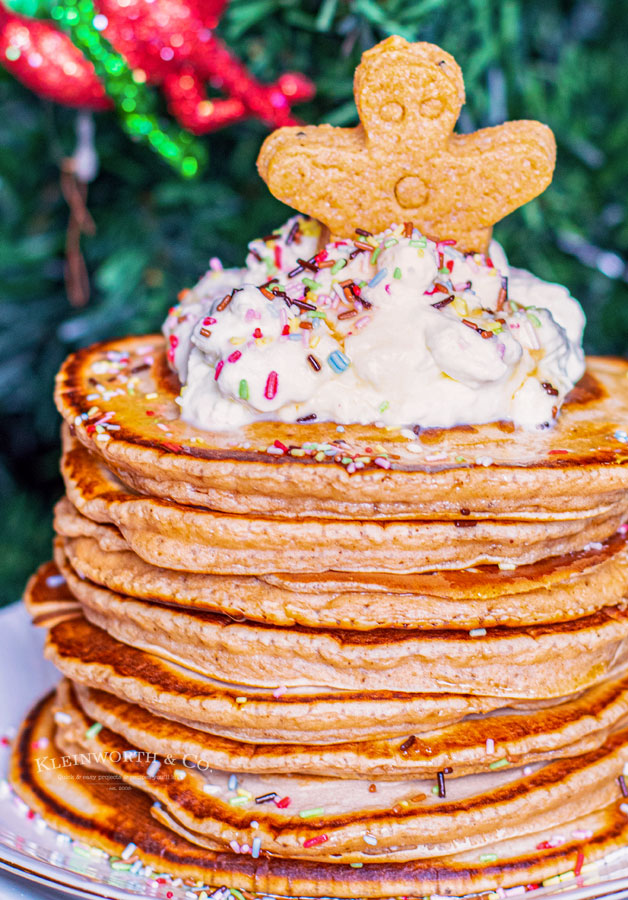 Holiday Gingerbread Pancakes