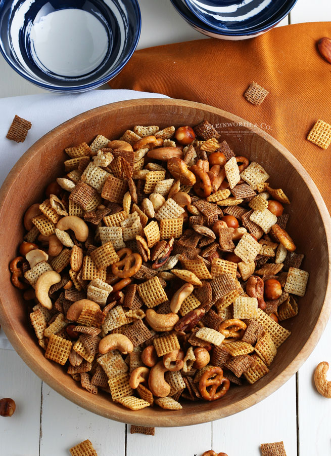 chex cereal -Party Snack Mix - Oven, Slow Cooker or Air Fryer