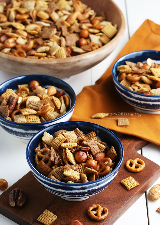 how to make Party Snack Mix - Oven, Slow Cooker or Air Fryer