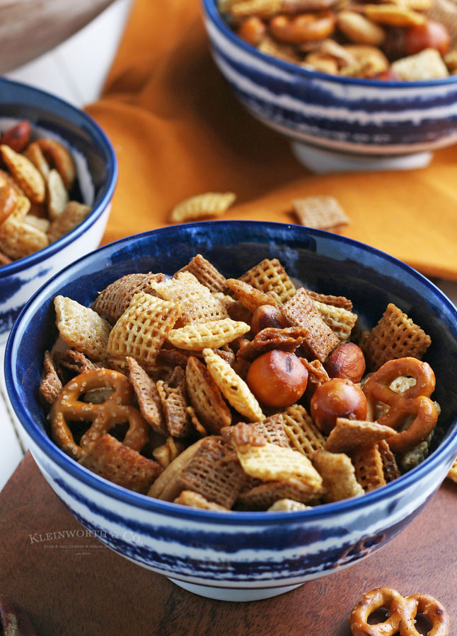 party mix - served in bowls