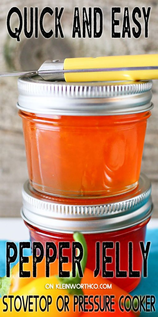 Simple Pepper Jelly - stovetop or pressure cooker
