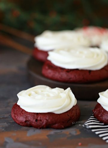 Frosted Red Velvet Cake Mix Cookies