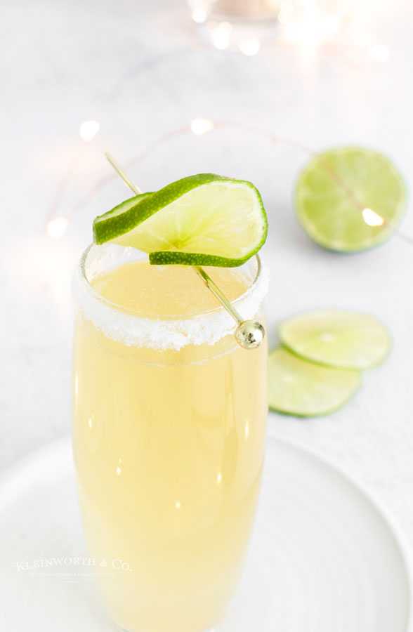 new years drink - Sparkling Margarita
