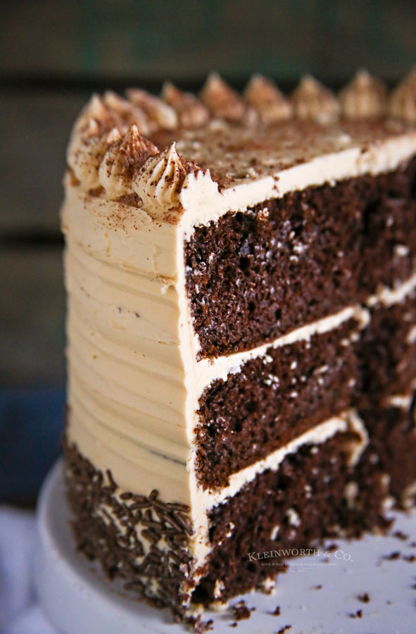 espresso chocolate cake with Coffee Buttercream Frosting