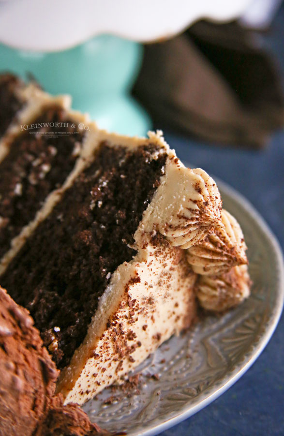 espresso chocolate cake with ice cream