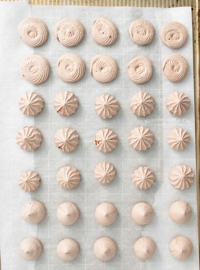 Baked Chocolate Meringue Cookies