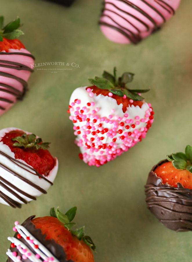 Strawberries with Chocolate and Sprinkles