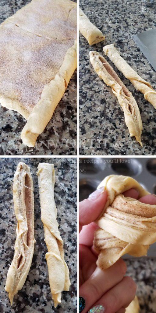 making cruffins step by step