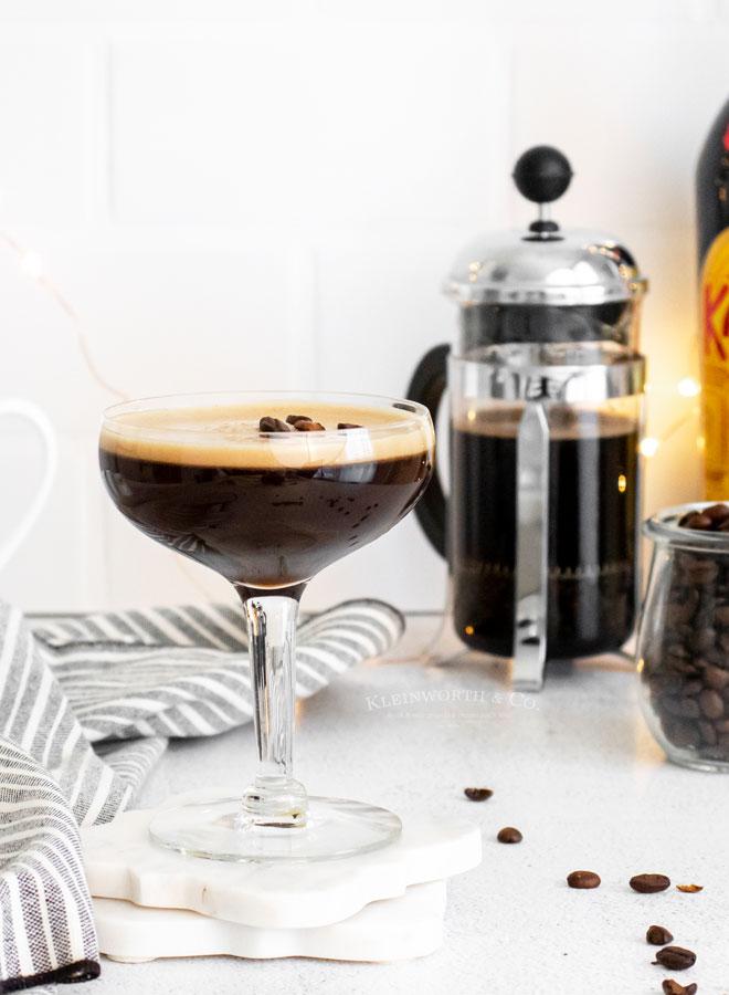 Espresso Martini with vodka