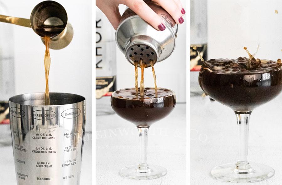 Espresso Martini with kahlua