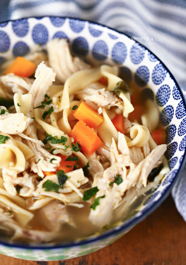 30 minute dinner - chicken soup - instant pot