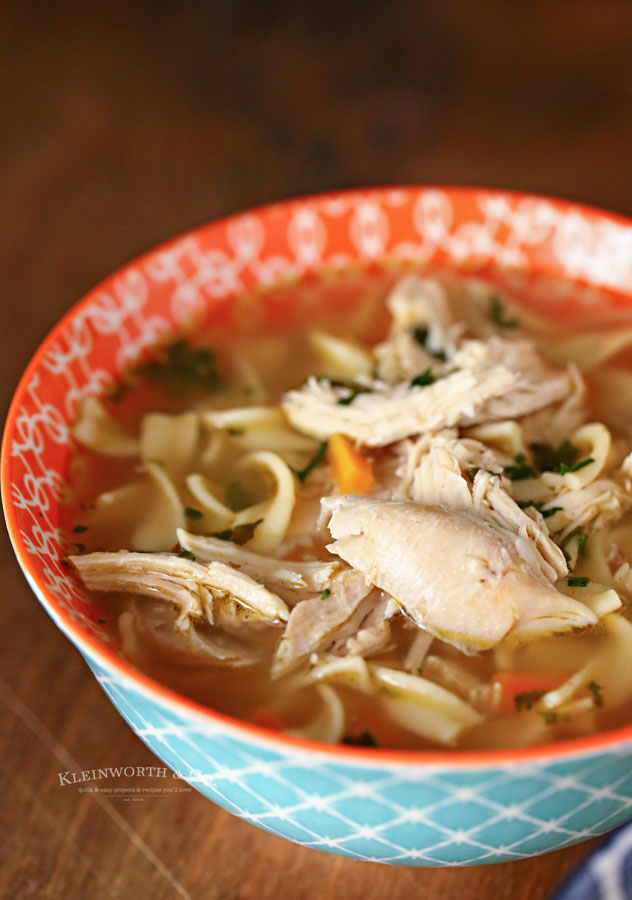Cooked Chicken - Chicken Noodle Soup