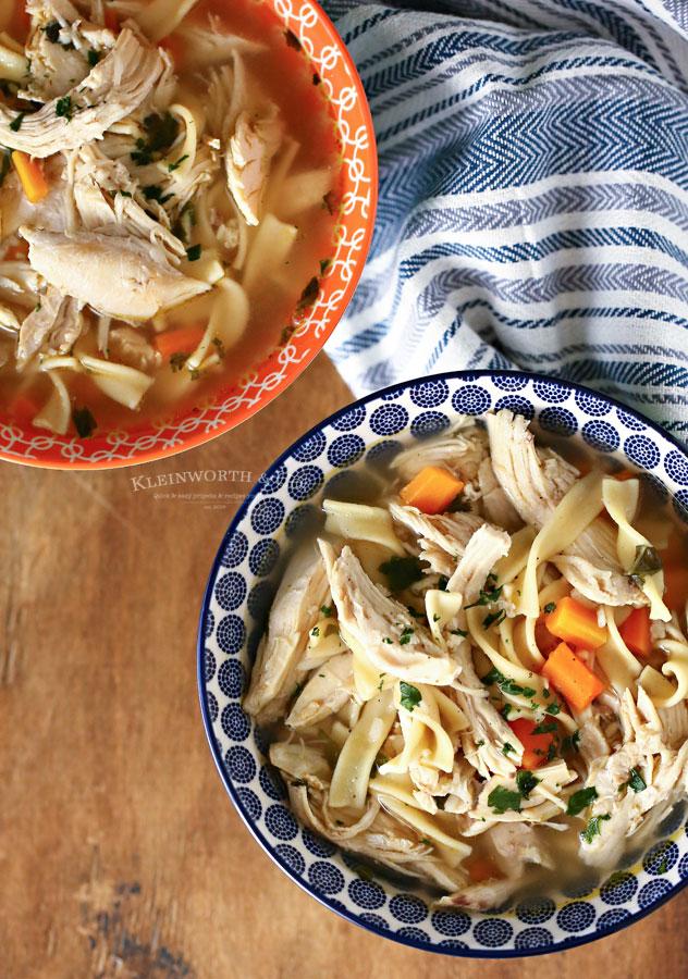 Instant Pot Chicken Noodle Soup rotisserie