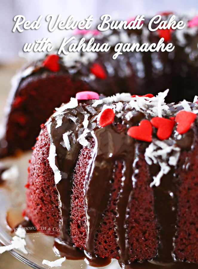 Red Velvet Bundt Cake with Kahlua Ganache