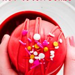 Red Velvet Hot Cocoa Bombs