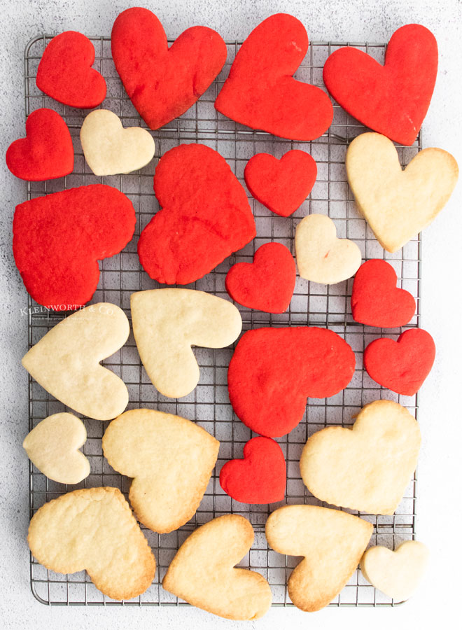red and vanilla heart cookies