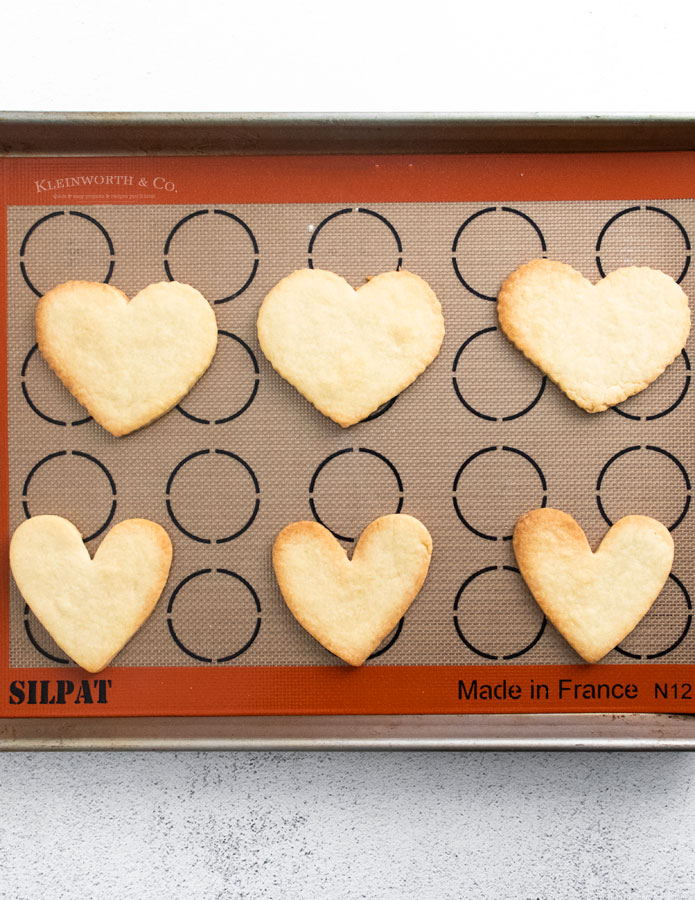 baked heart cookies