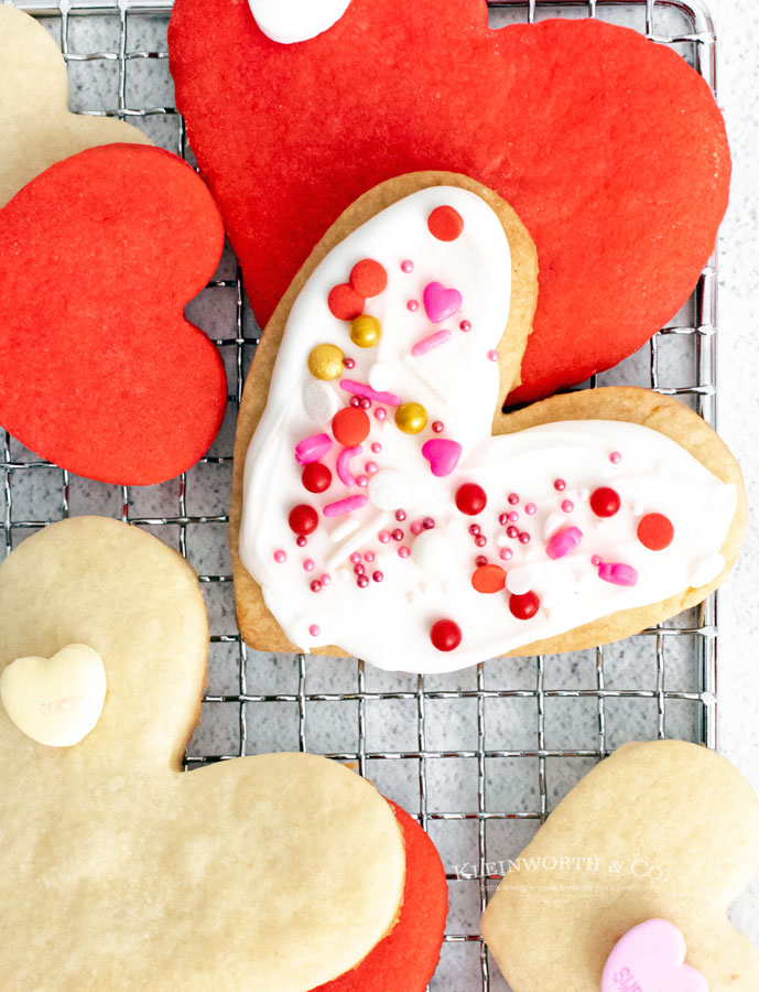 frosted heart cookie