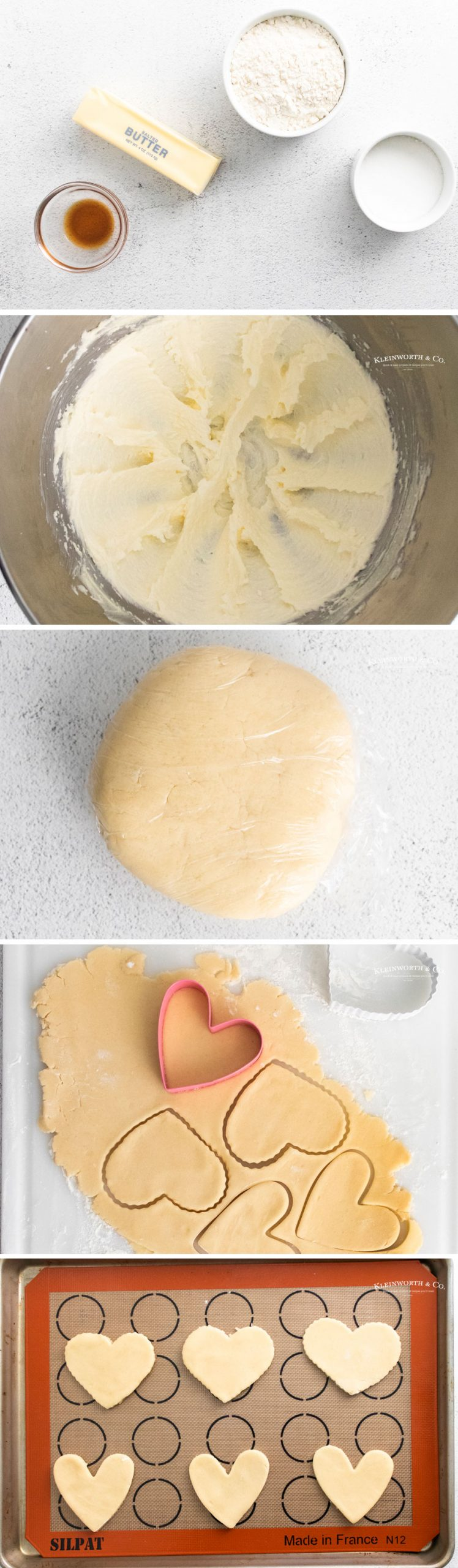 how to make Valentine Shortbread Cookies