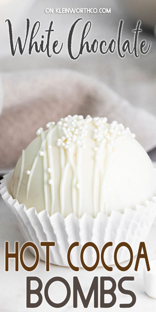 White Chocolate Hot Cocoa Bombs