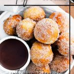 Air Fryer Doughnut Holes with Chocolate Sauce