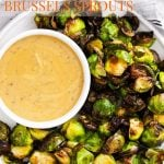 Air Fryer Brussel Sprouts with Herb Honey Mustard