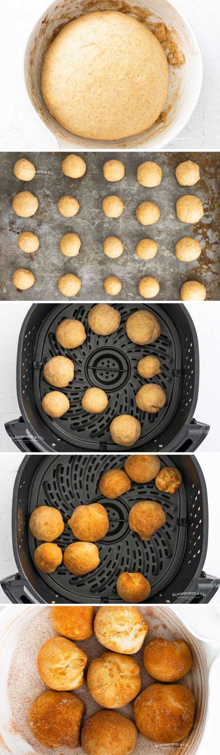 how to make Air Fryer Doughnut Holes