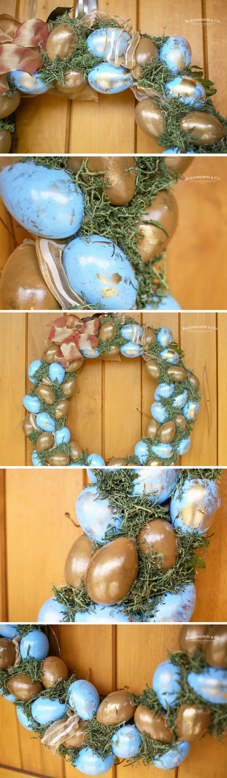 how to make a Blue & Gold Easter Wreath