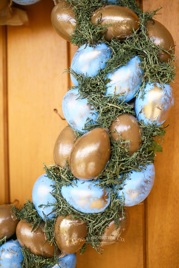 spring wreath with eggs