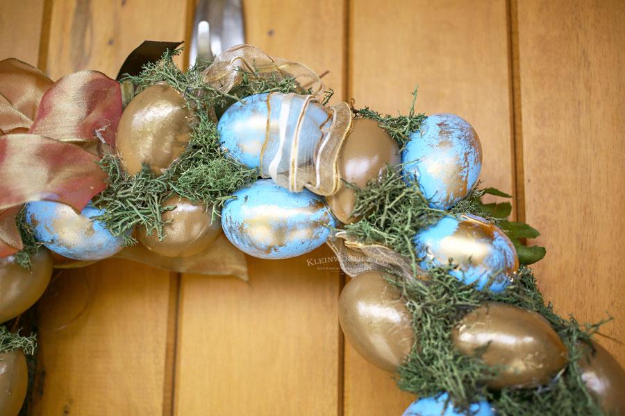 easter wreath using eggs