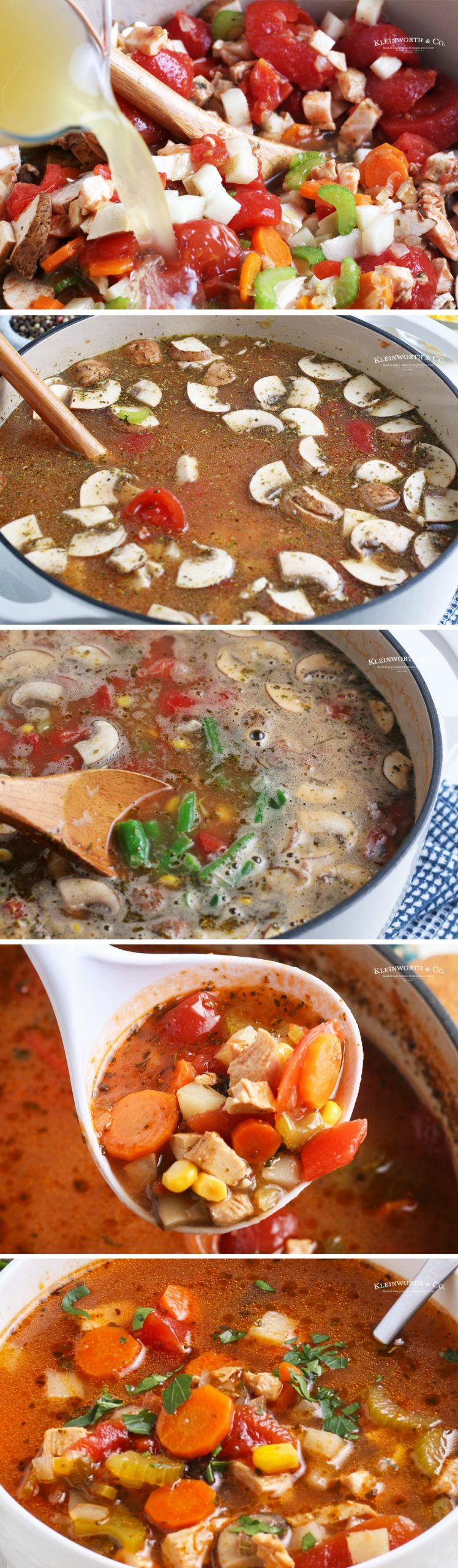 stovetop Chicken Vegetable Soup