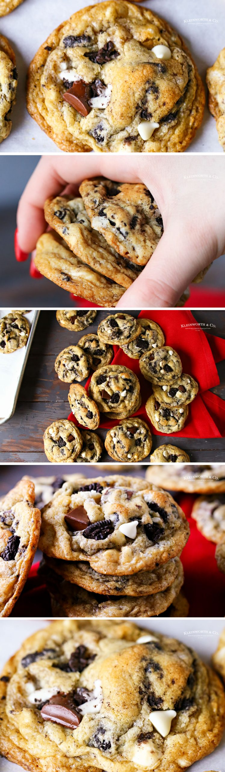 how to make Cookies and Cream Cookies