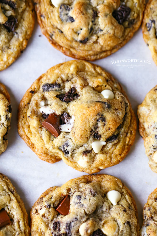 buttery loaded chocolate chip cookies
